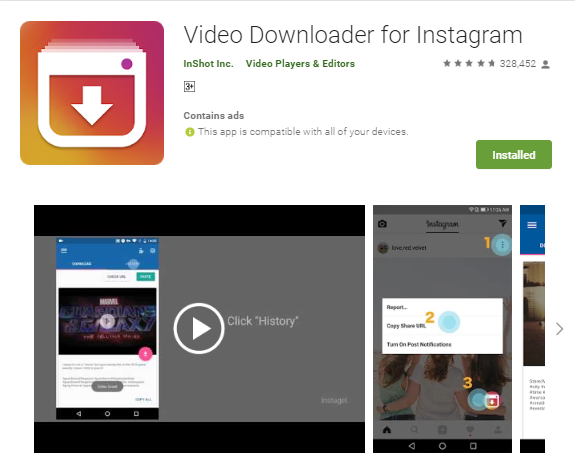 How to download instagram videos.
