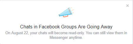 Chats in Facebook Groups Are Going Away